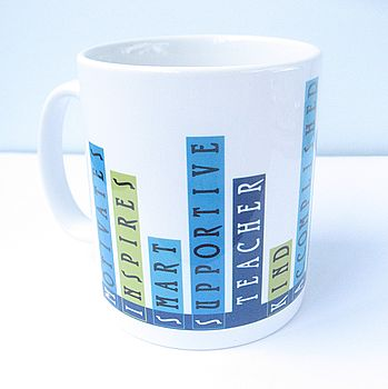 Personalised Teacher Qualities Ceramic Mug