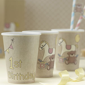 1st Birthday Party Paper Cups