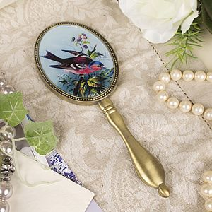 Vintage Bird Hand Mirror - bedroom