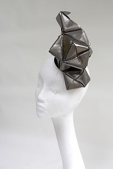 Metallic Leather Origami Headpiece