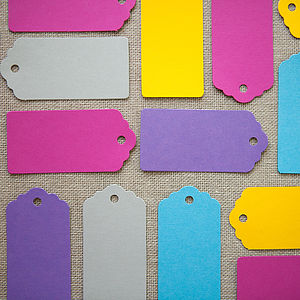 Set Of 20 Colour Pop Luggage Tags - place cards