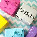 Set Of 10 Colour Pop Favour Boxes