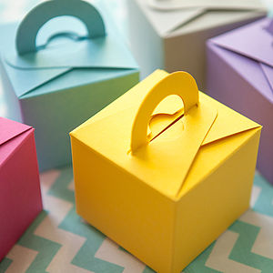 Set Of 10 Colour Pop Favour Boxes - wedding favours