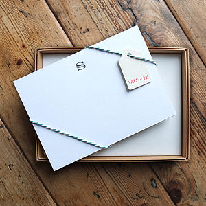 Initial Letterpress Writing Set