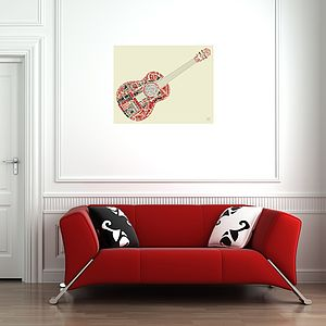 Guitar Legends Fabric Wall Print