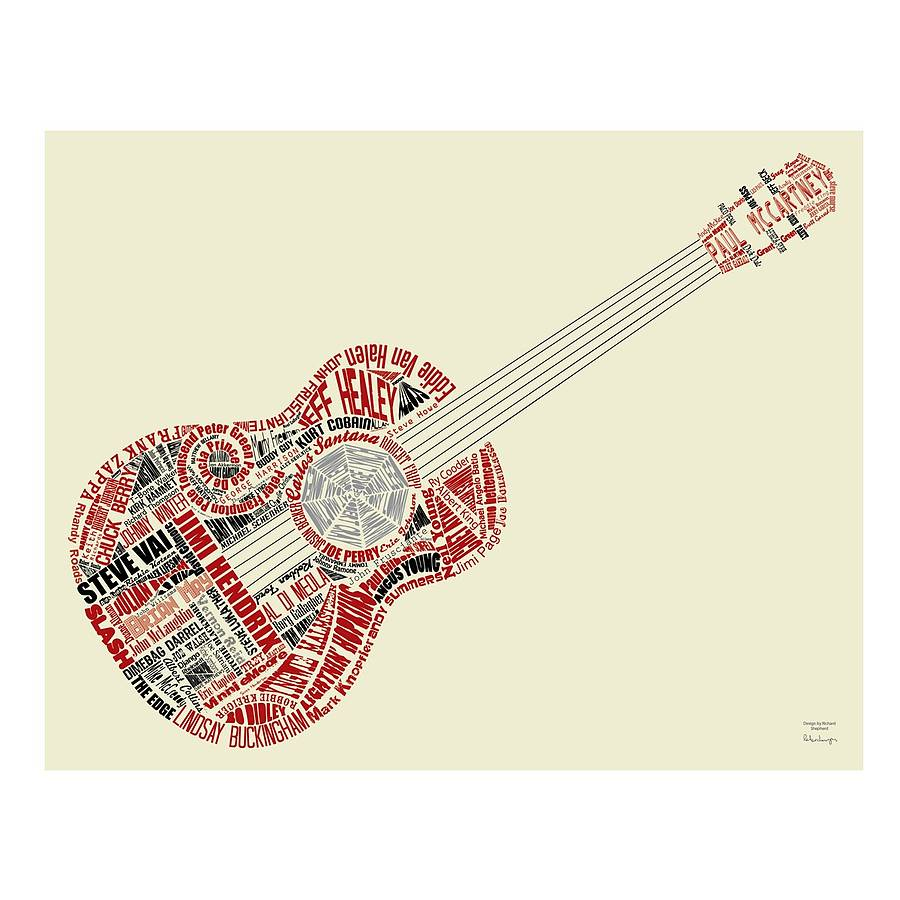 guitar legends fabric wall print by mirrorin ...