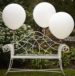 White 36 Inch Feature Party Balloons - children's parties