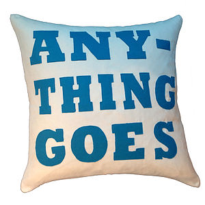 Anything Goes Cushion - cushions