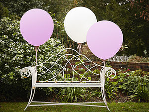 White And Pink 36 Inch Feature Party Balloons - outdoor living