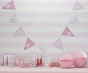 Princess And Pony Pink Party Paper Bunting