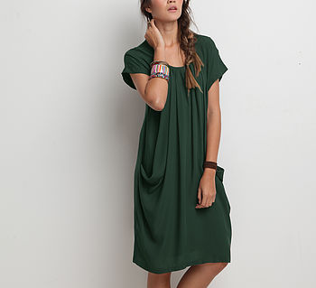 Stratum Dress - Forest Green