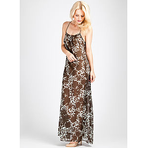 Adara Floral Silk Chiffon Maxi Dress