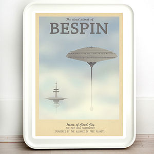 Star Wars Bespin Retro Travel Print