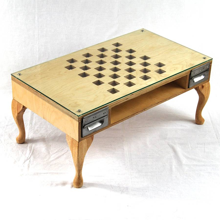 Etonnant Cut Out Chess/Coffee Table