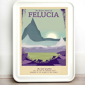 Star Wars Felucia Retro Travel Print - posters & prints