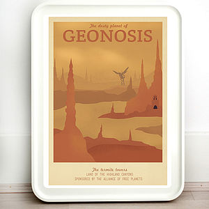 Star Wars Geonosis Retro Travel Print