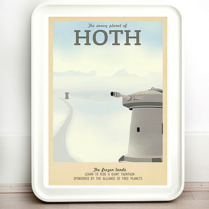 Star Wars Hoth Retro Travel Print - posters & prints
