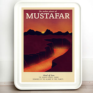 Star Wars Mustafar Retro Travel Print