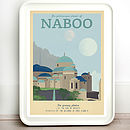 Star Wars Naboo Retro Travel Print