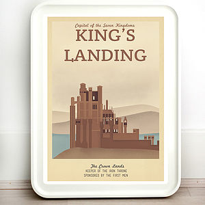Game Of Thrones Kings Landing Travel Print