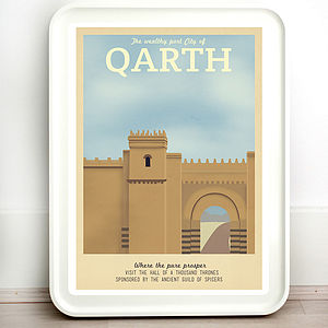Game Of Thrones Qarth Retro Travel Print