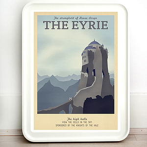 Game Of Thrones The Eyrie Retro Travel Print