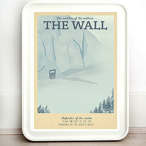 Game Of Thrones The Wall Retro Travel Print