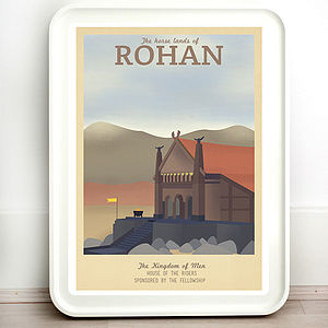 Lord Of The Rings Rohan Retro Travel Print