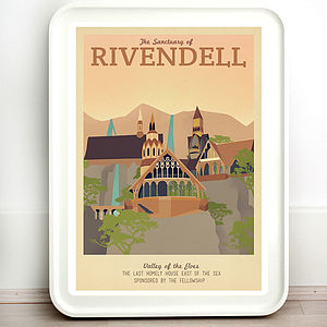 Lord Of The Rings Rivendell Travel Print - prints & art sale
