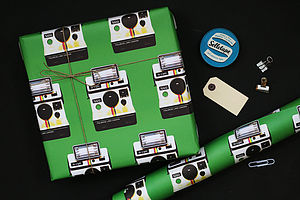 Polaroid Camera Wrapping Paper - ribbon & wrap