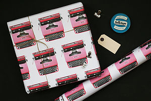 Typewriter Wrapping Paper