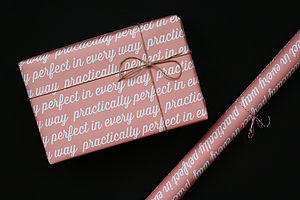 'Practically Perfect' Wrapping Paper - ribbon & wrap