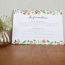 Danish Design Wedding Invitation Set