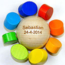Multicoloured Wooden Baby Rattle