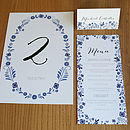 Danish Wedding Day Stationery And Decor