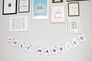 Just Married Letter Garland - occasional supplies