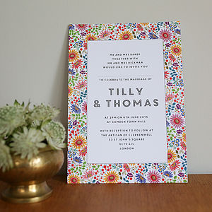 Bright Flowers Wedding Invitation Set - wedding stationery