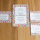 Bright Flowers Wedding Invitation Set