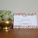 Bright Flowers Wedding Invitation Set