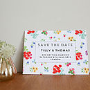 Ditsy Design Wedding Save The Date