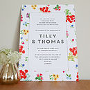 Ditsy Design Wedding Invitation Set