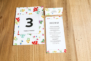 Ditsy Wedding Day Stationery And Decor