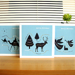 Personalised Pack Of Six Christmas Cards