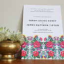 Floral Folk Wedding Invitation Set