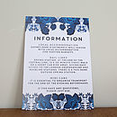 Floral Folk Design Wedding Invitation Set