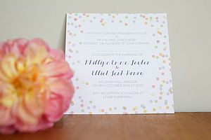 Confetti Design Wedding Invitation Set