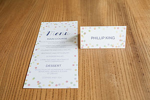 Confetti Wedding Day Stationery And Decor - table decorations