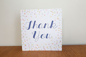 Confetti Design Thank You Card Pack - polka dots