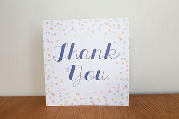 Personalised Confetti Design Thank You Card