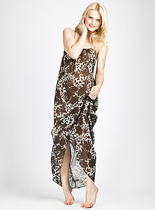 Floral Print Silk Chiffon Maxi Dress - view all sale items